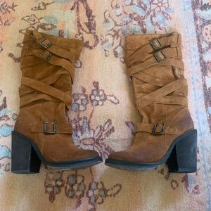 New Jeffrey Campbell mission boots in rust 7.